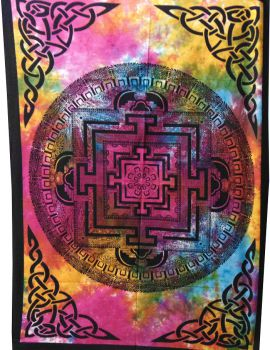 Heyrumbh Handicrafts Vastu Yantra Tapestry Wall Hanging Cotton Poster(Multi Color, 40 X 30 Inches)