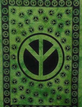 Heyrumbh Handicrafts Y Peace Sign Tapestry Wall Hanging Cotton Poster(Green, 40 X 30 Inches)